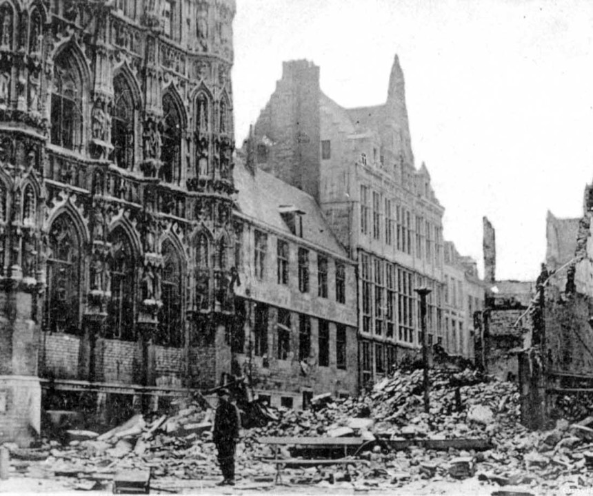 belgium wwi destruction