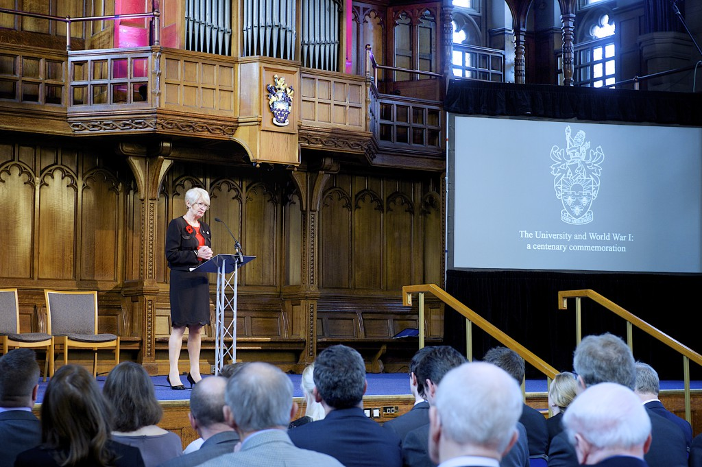 'The New Session' by Professor FE Weiss, Vice-Chancellor (1913-1915), read by the President and Vice-Chancellor Professor Dame Nancy Rothwell